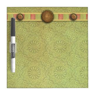 Fancy Green Dry Erase Board