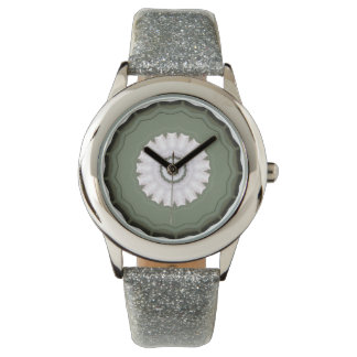 Fancy Green Faced Designer Watch For Ladies