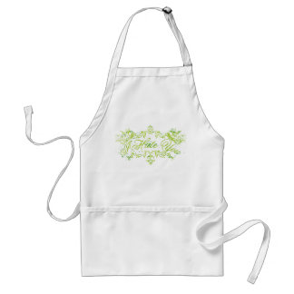 Fancy Green I Hate You Aprons