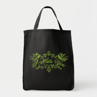 Fancy Green I Hate You Canvas Bag