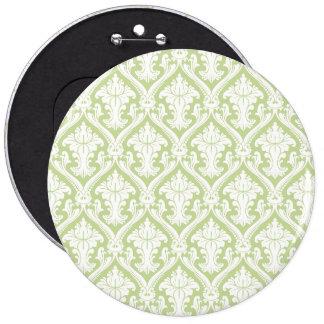 Fancy Green Pattern 6 Inch Round Button