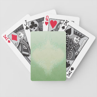 Fancy Green Playing Cards