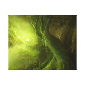 fancy green tree land Wrapped Canvas Gallery Wrap Canvas