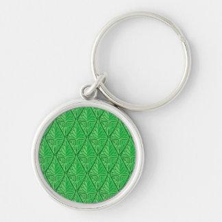 Fancy Green Tropical Leaves Keychain