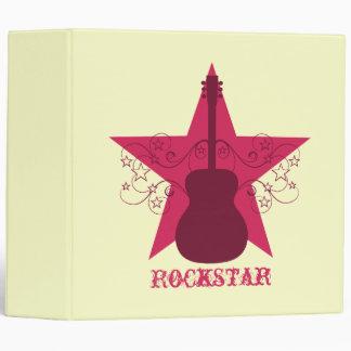 Fancy Guitar Star Swirls Binder, Magenta Binder