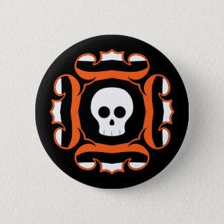 Fancy Halloween skull Pinback Button