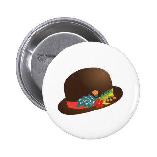 Fancy Hat Pinback Buttons