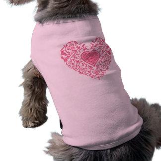 Fancy Heart Dog Tee Shirt