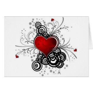 fancy heart, I love you, lovely card