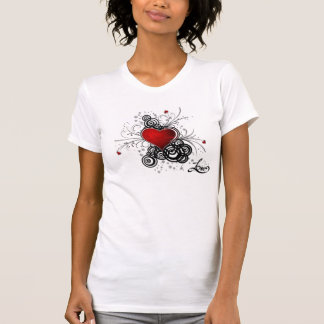 fancy heart with love tshirts