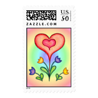 FANCY HEARTS & FLOWERS by SHARON SHARPE Postage