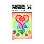 FANCY HEARTS & FLOWERS by SHARON SHARPE Postage Stamps