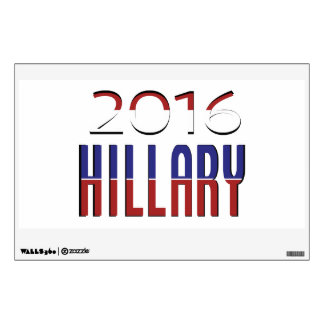 Fancy  Hillary Typography  2016 Elections Wall Sticker