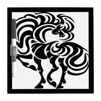 Fancy Horse Design Dry-Erase Board