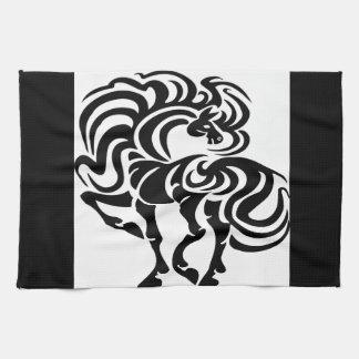 Fancy Horse Design Hand Towel