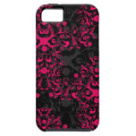 Fancy Hot Pink and Black iPhone 5 Case