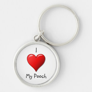 Fancy I Love My Pooch Keychain