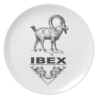 Fancy Ibex animal Dinner Plate