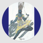 Fancy in Blue by Leon Bakst Sticker