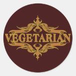 Fancy in Brown - Vegetarian Sticker