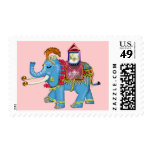 fancy indian elephant postage
