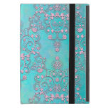 Fancy Intricate Damask Pattern Teal and Pink Case For iPad Mini