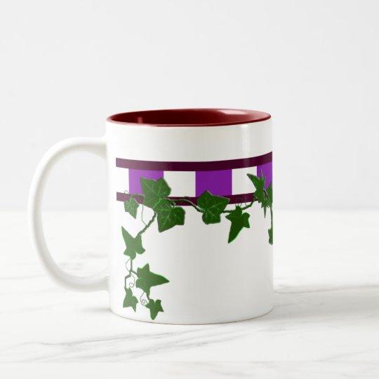 fancy ivy Two-Tone coffee mug