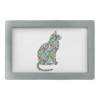 FANCY Jewel n Stones Studded CAT - Pet Animal Belt Buckles