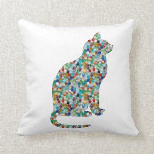 FANCY Jewel Throw Pillow Cats Animals Zazzle