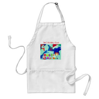 Fancy Killer Whale Santa Holiday Gifts Adult Apron