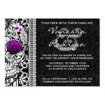 """Fancy Lace Sugar Skull Day of the Dead Invite 5"""" X 7"""" Invitation Card"""