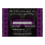 """Fancy Lace Sugar Skull Day of the Dead RSVP 3.5"""" X 5"""" Invitation Card"""