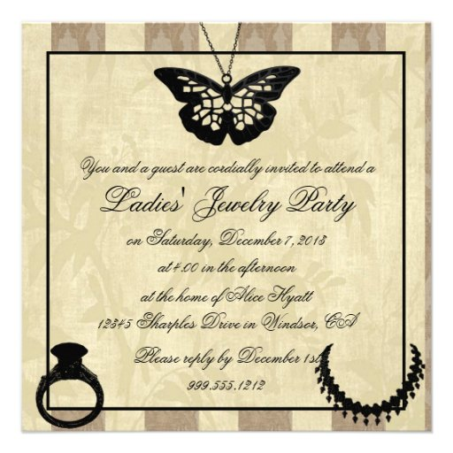 Jewelry Party Invitation for your inspiration to make invitation template look beautiful
