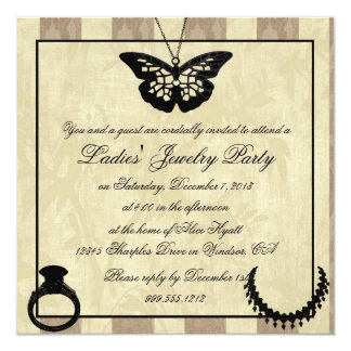 jewelry show invitations & announcements | zazzle, Party invitations