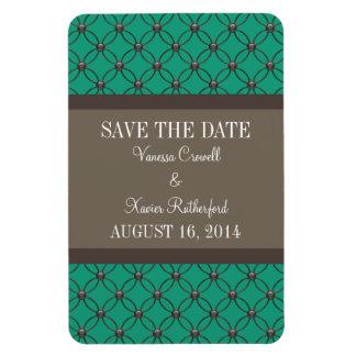 Fancy Lattice Save the Date Magnet, Emerald Magnet