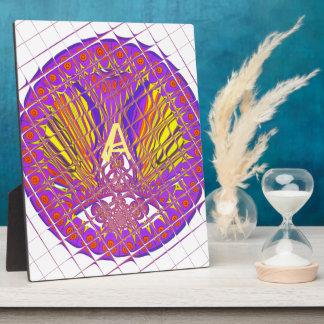 Fancy Letter A Beautiful Plum Amazing Colorful Plaque