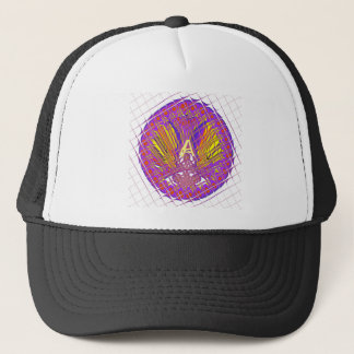 Fancy Letter A Beautiful Plum Amazing Colorful Trucker Hat