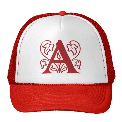 Fancy Letter A Hats