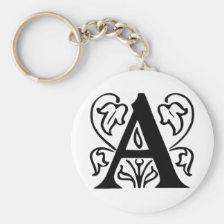 Fancy Letter A Keychains
