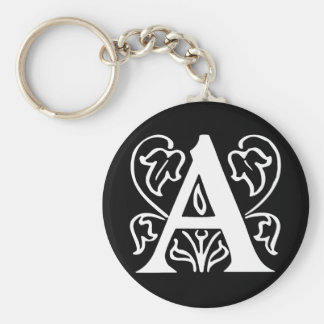 Fancy Letter A Keychain