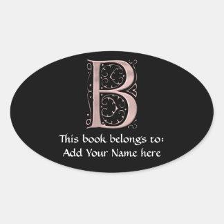 Fancy Letter B 1 Sticker