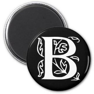 Fancy Letter B 2 Inch Round Magnet