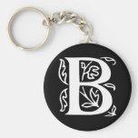 Fancy Letter B Keychain
