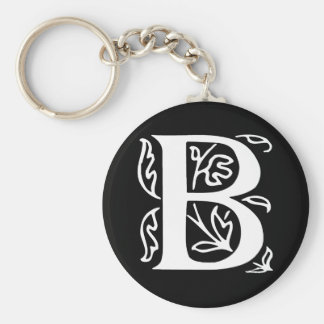 Fancy Letter B Keychain