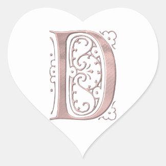 Fancy Letter D 1 Stickers