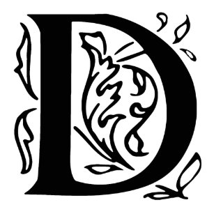 fancy letter d adult apron