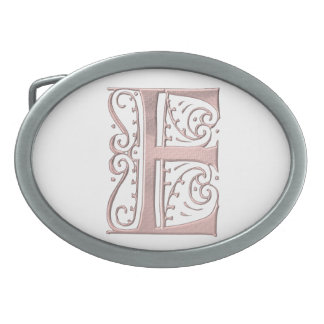 Fancy Letter E 1 Belt Buckles