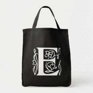 Fancy Letter E Tote Bag