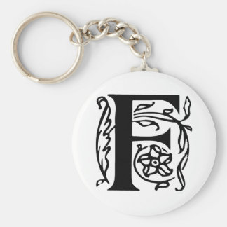 Fancy Letter F Keychain