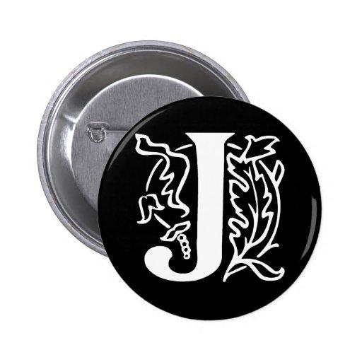 Fancy Letter J Buttons